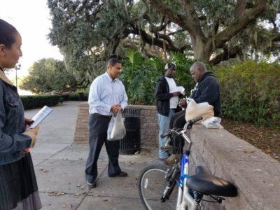 Missionary Work at Lake Eola in Orlando, FL